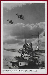 German Third Reich postcard LUFTWAFFE Arado Ar196 shipboard observation seaplane