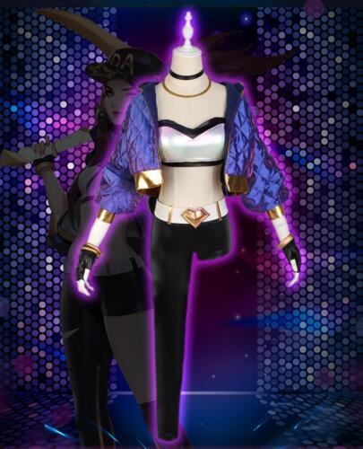 LOL League of Legends KDA Akali Cosplay Costume Baseball Coat  Full set