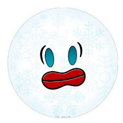 "Indoor//Outdoor Angry Baseball Face Emoji Metal Round Circular Sign 12/"""