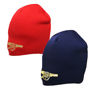 Image is loading Official-ARSENAL-FC-Football-Club-Beanie-Knitted-Wooly- f9d18bf95
