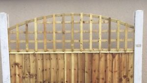 Details about 6x2 Heavy Duty Arched Dome Trellis Fence Topper Lattice  TREATED Wood RRP £26