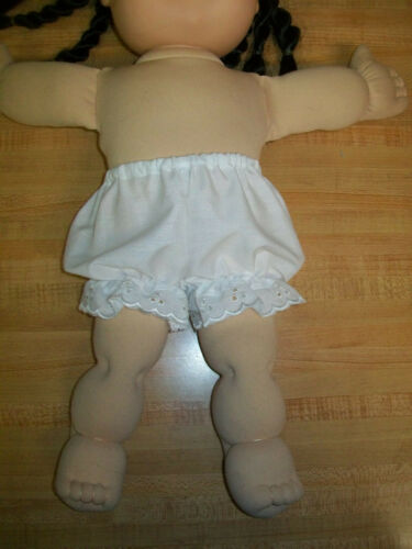 """White BLOOMERS PANTY PANTIES W// WHITE EYELET for 16 17 18/"""" CPK Cabbage Patch Kid"""
