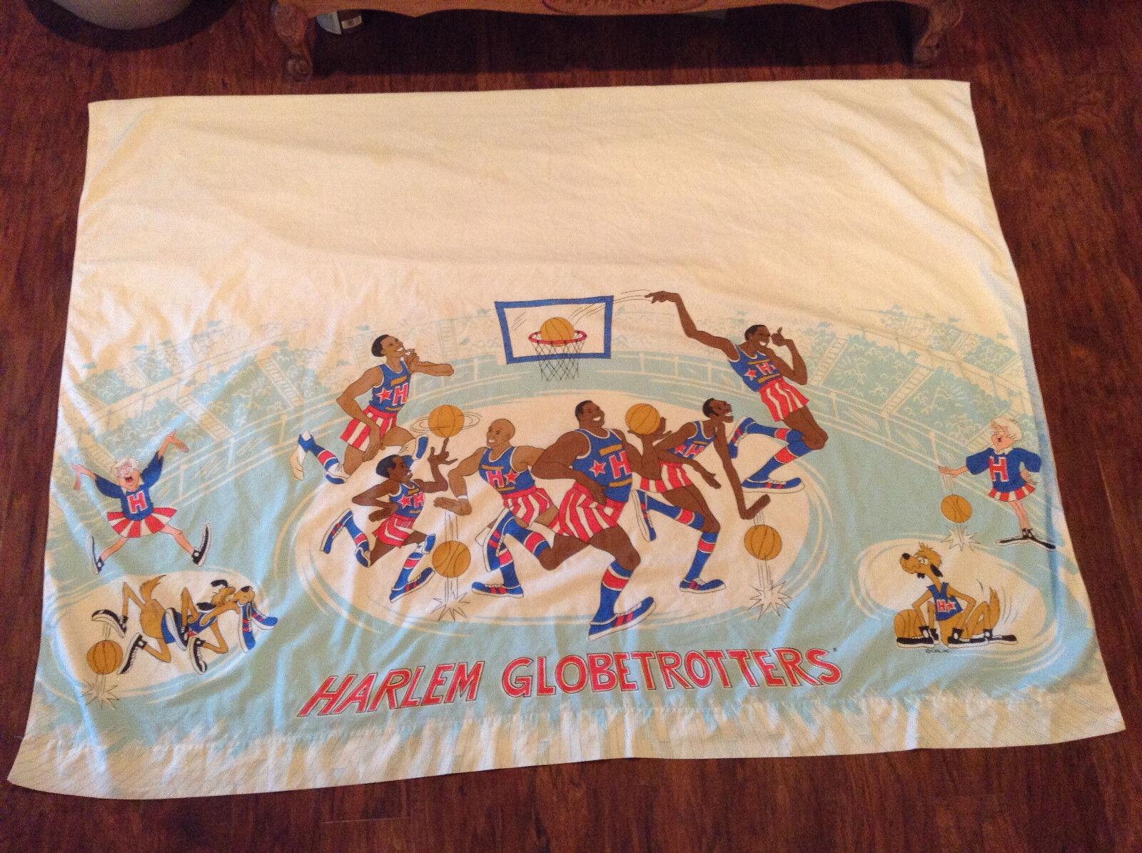 Vintage Harlem Globetrougeters Cartoon flat sheet (RARE& VERY HARD TO FIND)