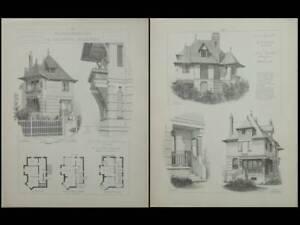 Deauville, Villa Rosati - Gravures 1905 - 119 Rue General Leclerc, Louis Sorel
