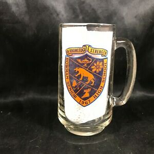 Vintage BOWMAN High School 1967 Commemorative Beer Glass Mug