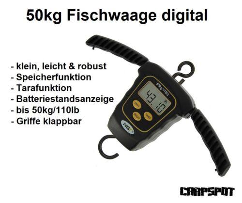 keine Analogwaage NGT Angelwaage digital 50kg Dynamic Fischwaage Kofferwaage