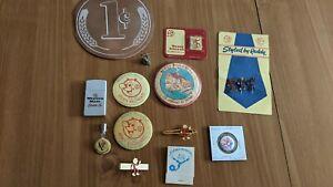 Vintage Reddy Kilowatt Advertising Lot: Pins, Clips, Mirrors, Lighter