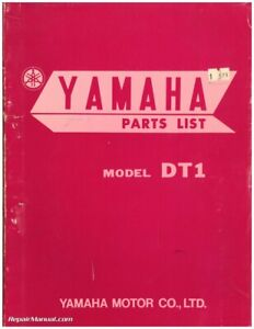 1968 Yamaha Dt1 Printed Motorcycle Parts Manual Ebay