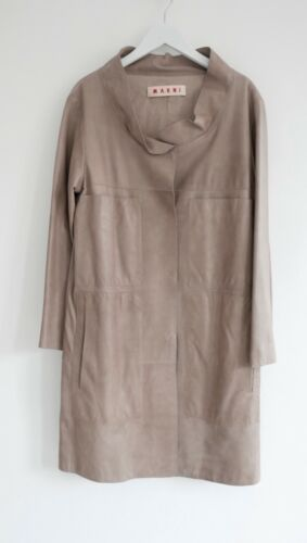 It40 Leather Soft Taupe Lightweight Coat £2k Tactile Marni 10 Neckline uk8 Lamb zqwxWOI16p