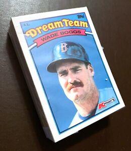 50-WADE-BOGGS-Boston-Red-Sox-1989-Topps-Kmart-DREAM-TEAM-Baseball-Card-14-LOT