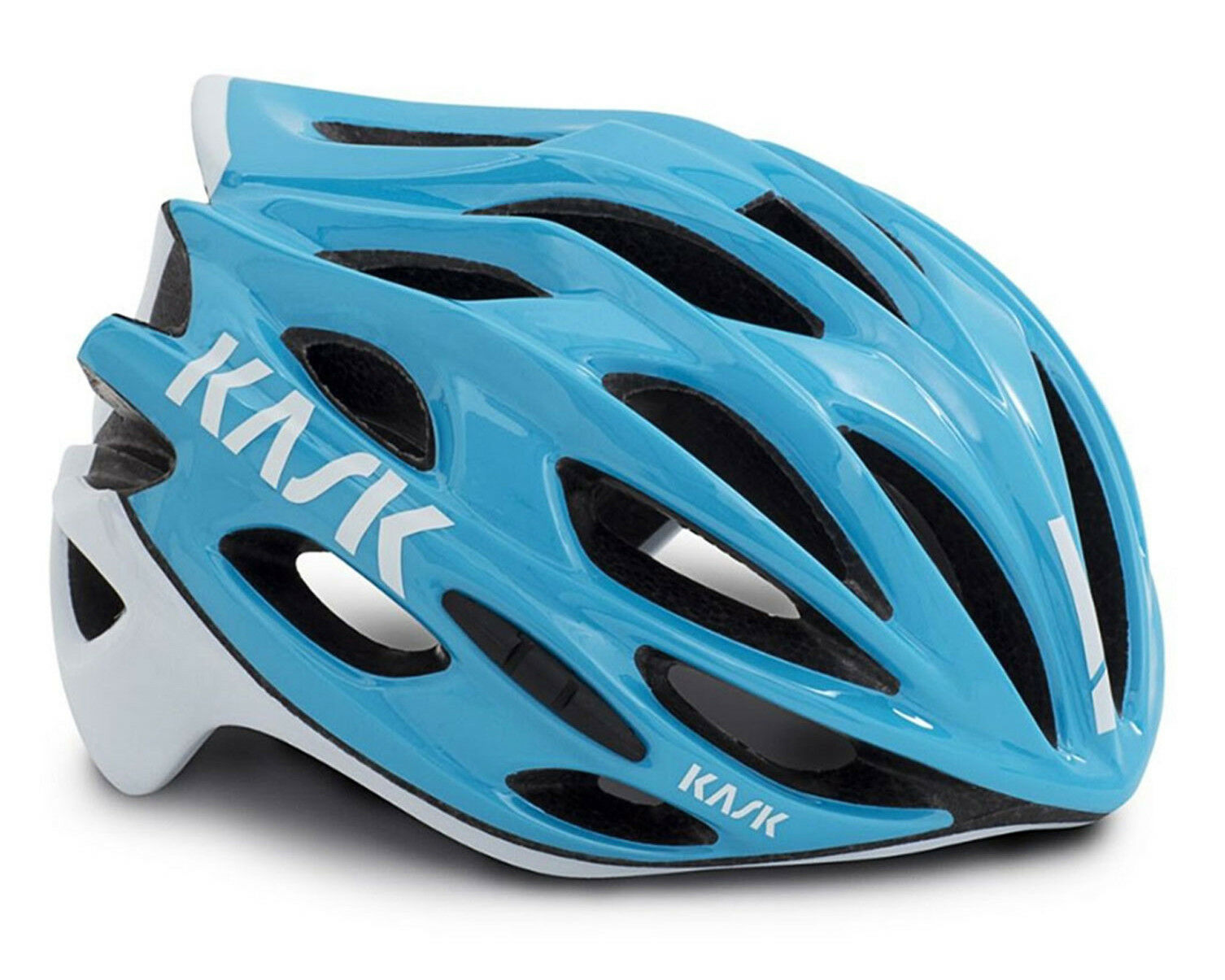 KASK MOJITO X Road Cycling Helmet - Light blå  vit [S 48 -56.M 52 -58.L 59 -62cm]
