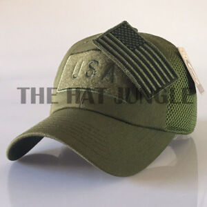 Details about USA American Flag Patch Hat US Military Tactical Detachable  Baseball Cap  Olive  316e6f6afbb