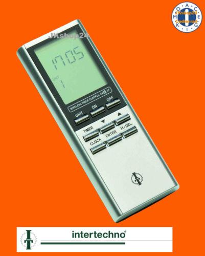 Intertechno ITZ-500 FUNK-TIMER Zeitschalter Fernbedienung Sender m.ZEITSCHALTUHR