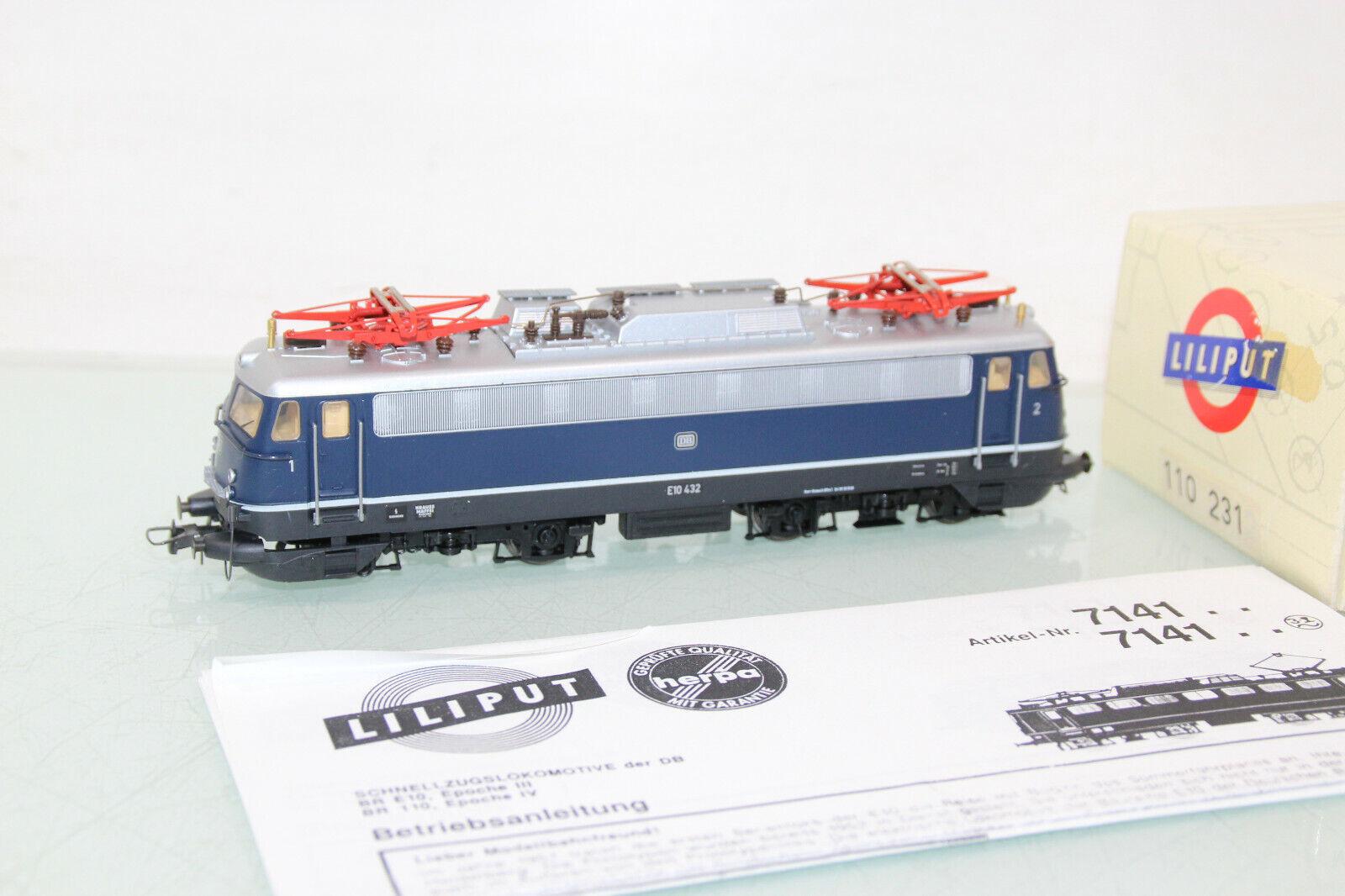 Liliput h0 110231 ELok BR e10 432 blu della DB molto ben tenuto in OVP gl1886