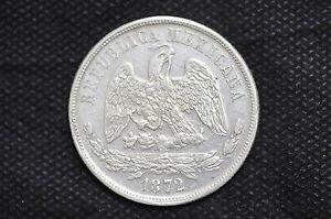 Mexico - Republic 1872 Mo M UN PESO Silver Coin ( Weight : 26.87 g ) C93