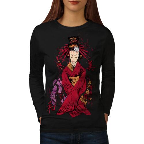 Classic Geisha doll Femmes T-shirt à manches longues Nouveauwellcoda