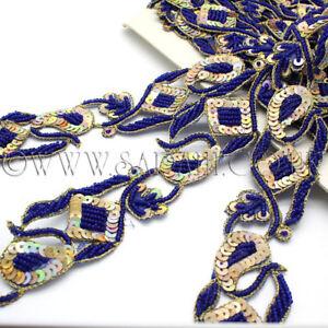 BLUE FLORAL TRIM Rhinestone trimming,EMBELLISHMENT,costume,pageant,ART,CRAFTS