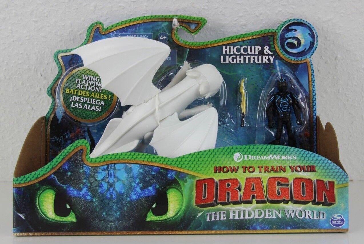 Hicks & lightfury drachen 3 versteckte welt drachenreiter drachenz ä hmen licht wut