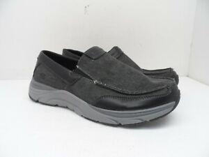 Skechers-Men-039-s-Relaxed-Fit-Memory-Foam-Slip-On-Casual-Shoe-Black-Wash-9M