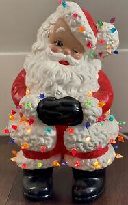 Atlantic-Mold-Santa-Lights-Lighted-Ceramic-Winking-Kitschy-Christmas-Vintage