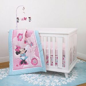 Disney Baby Girls Minnie Mouse Crib Bedding Comforter Set Musical