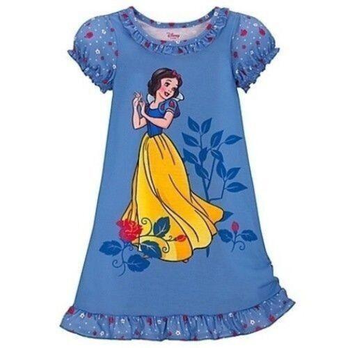Disney Princess Snow White DARK Blue Nightshirt Nightgown Small Birdsong NEW