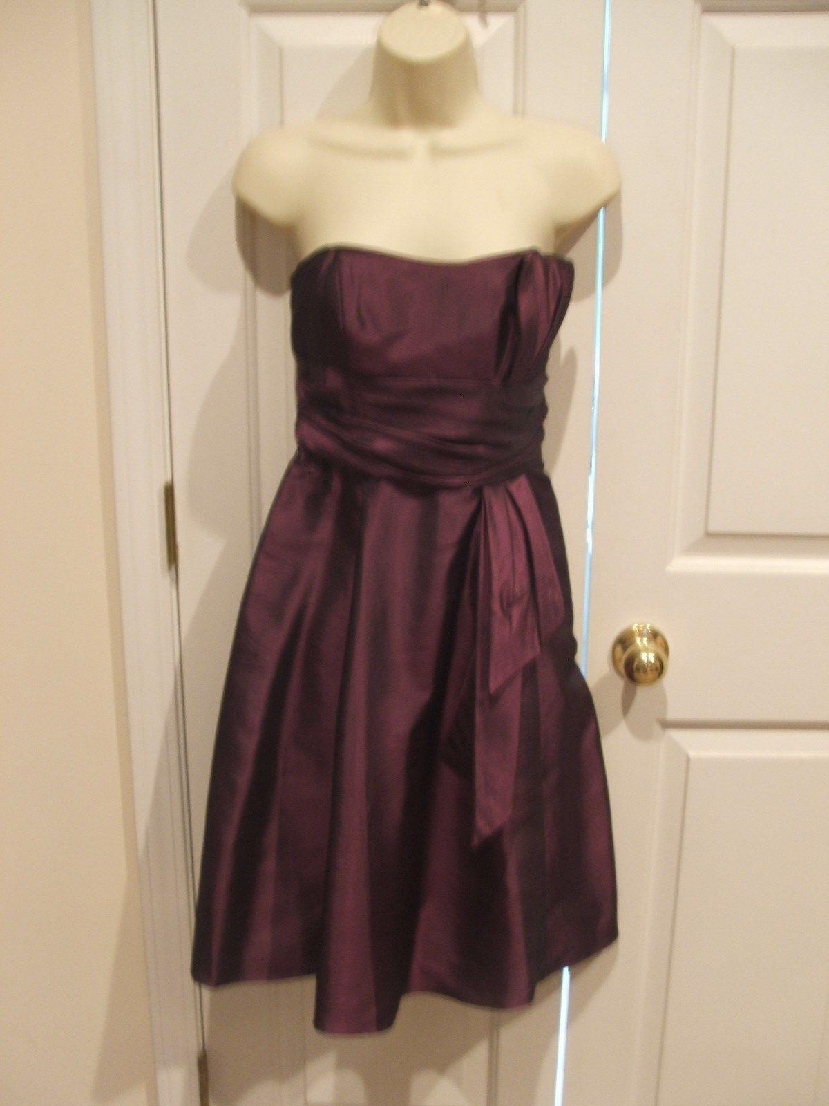 NWT London Style Nights Straplesss EGGPLANT Formal Occasion Dress siz 4