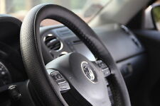 """15.25"""" Steering Wheel Cover Black PVC Leather Wrap Stitching 47007 Large Car Suv"""