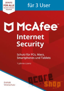 McAfee-Internet-Security-2018-2019-3-User-PC-1-Jahr-Vollversion-Antivirus