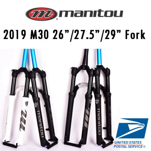 "2020 Manitou M30 Markhor 26/"" 27.5/"" 29/"" Air Suspension Fork Manual Remote MTB"