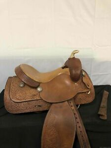 """15.5"""" Hereford Tex Tan Of Yoakum Western Trail Saddle"""