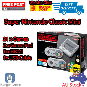 Details about Brand New Super Nintendo Mini Classic Console SNES 21  Pre-Installed Games
