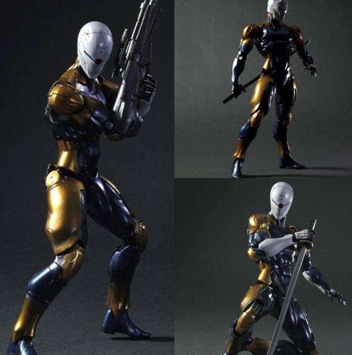 Metal Solid Snake Gear grau Fox Ninja Play Arts Kai Action Figure