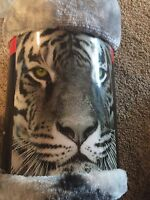 Tiger Wildlife Throw Gray Artic 50x60 Polyester Black