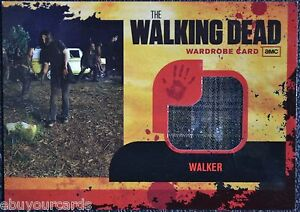 Walking-Dead-Season-1-M16-DARK-PLAID-VARIANT-Walker-Wardrobe-Prop-Trading-Card