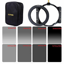 ZOMEI 150mm Neutral Density Filter Kit ND2,4,8,16+Holder+72 adapter For Cokin Z