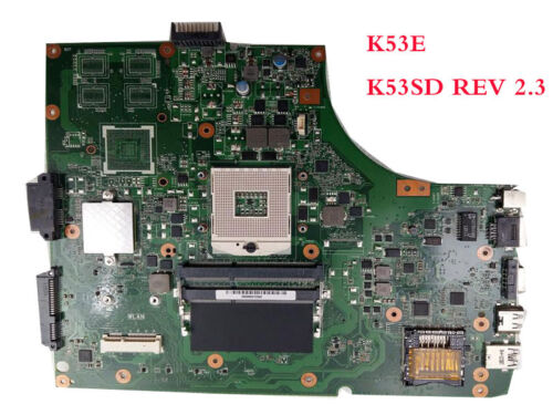 For ASUS K53E Motherboard A53E X53E P53E K53SD REV 2.3 Mainboard HM65 PGA989