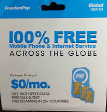 FreedomPop 3-in-1 Global SIM Card 700MB Pre-activated + Detailed Guideline