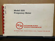 Eldorado Electronics Technical Instruction Manual For The 225 Frequency Meter