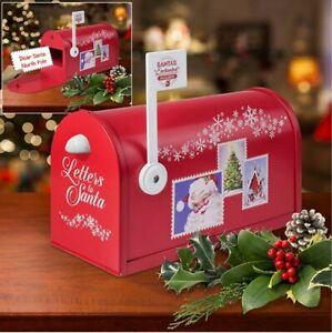 Mr-Christmas-Santa-039-s-Enchanted-Mailbox-Decoration-Magical-Sounds-with-Envelopes