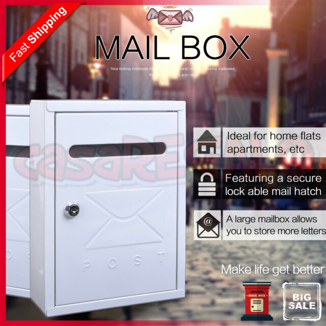 Mailbox Wall Mount Post Letterbox Letter Mail Box Junk Mail AU