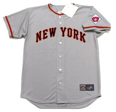 BOBBY THOMSON New York Giants 1951 Majestic Throwback Away Baseball Jersey 2f303e790
