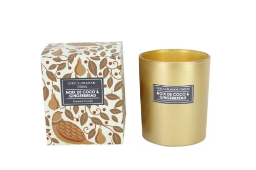 Gisela Graham NEW XMAS STOCK NOIX DE COCO /& GINGERBREAD Scented Boxed Candle