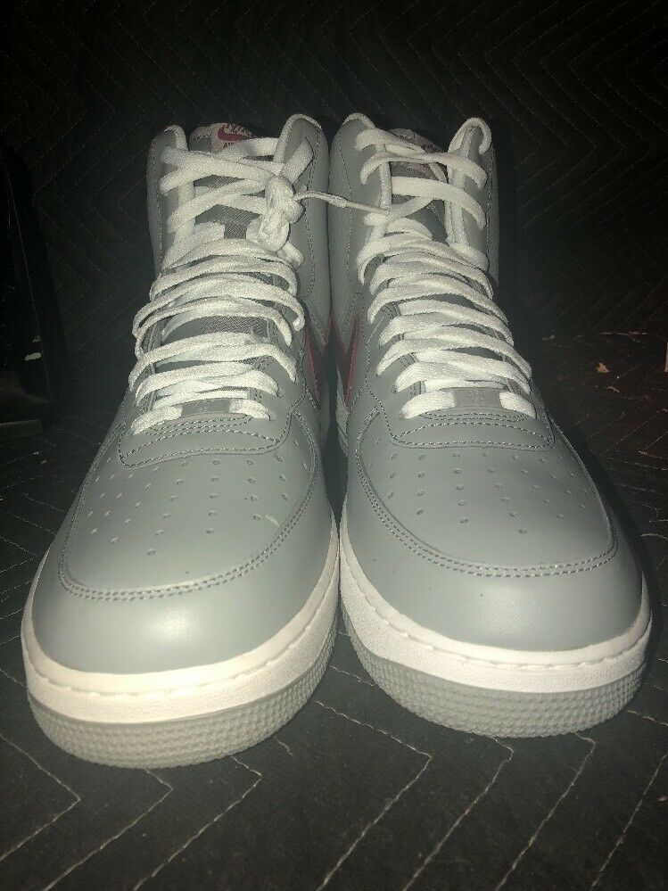 Nike Grey And Red Air Force 1 High '07 Nike Size  12 Style  315121 012