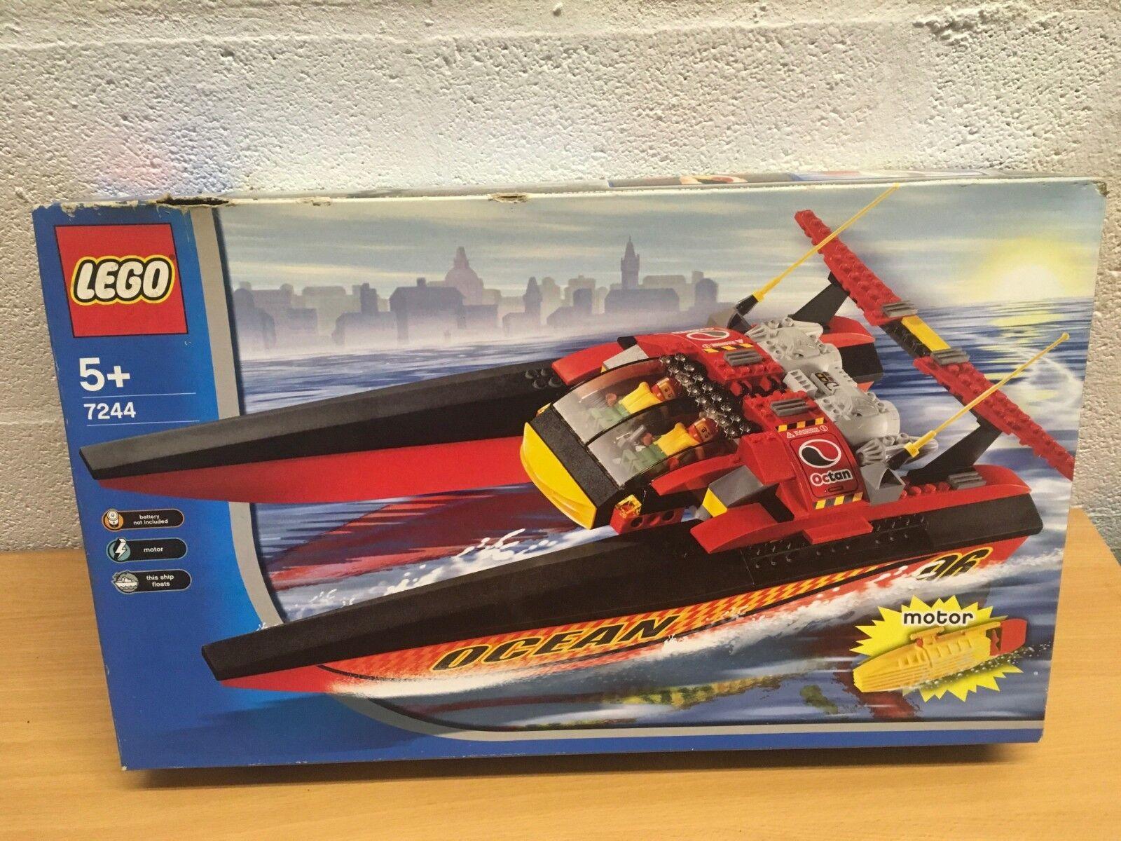 LEGO LEGO LEGO CITY 7244 SPEEDBOAT WITH MOTOR NEW SEALED e720bd