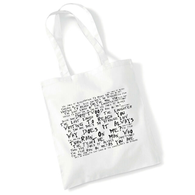 Art Studio Tote Bag THE HOUSEMARTINS Lyrics Print Album Poster Gym Shopper Gift