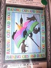 QUILT PATTERN - CRIB OR WALL HANGING- 'RAINING CATS AND DOGS'   1986