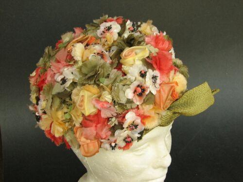 VINTAGE SCHIAPARELLI FLOWER GARDEN HAT