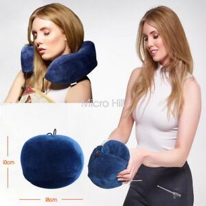 Memory-Foam-Rebound-Travel-Pillow-U-shaped-Neck-support-Headrest-Soft-Car-Flight