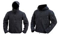 Mens Military Army Combat Recon Hoodie Fleece Hoodies Black Green Zip Jacket New